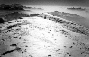 Nella nebbia tra le Cime dei Ferùc
