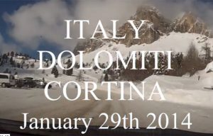 Dolomiti d'inverno. Grazie a altitudini.it e a Cortina Turismo