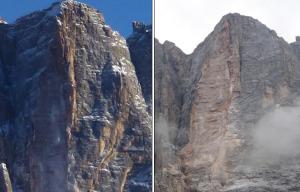 Civetta, altro crollo sulla Torre Su Alto
